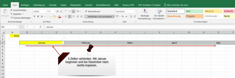 Excel Kalender 2019 Pic1