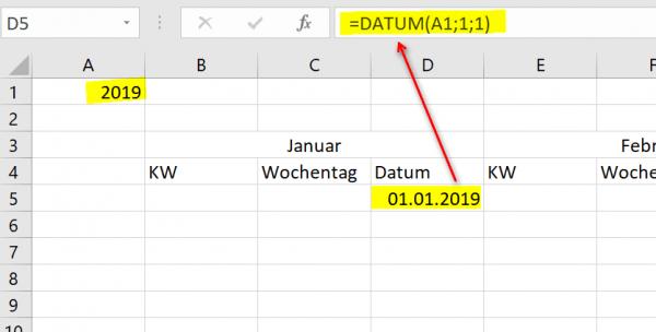 Excel Kalender 2019 Pic3