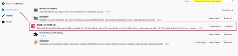 FB Container Addon Installation