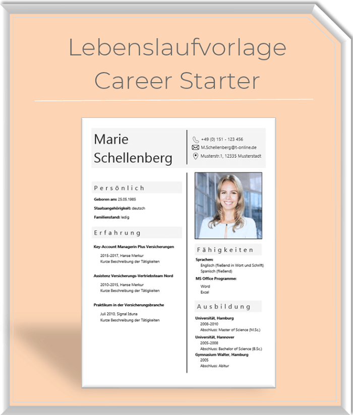 Lebenslaufvorlage - Career Starter