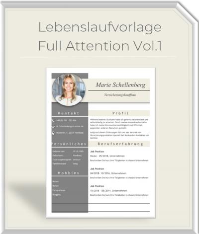Lebenslaufvorlage - Full Attention Vol.1