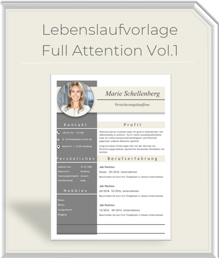 Lebenslaufvorlage - Full Attention Vol.1