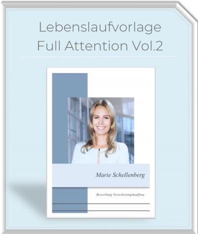 Lebenslaufvorlage - Full Attention Vol.2