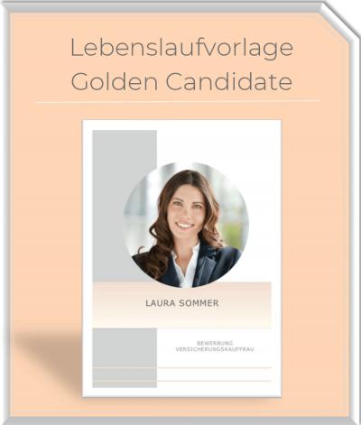 Lebenslaufvorlage - Golden Candidate
