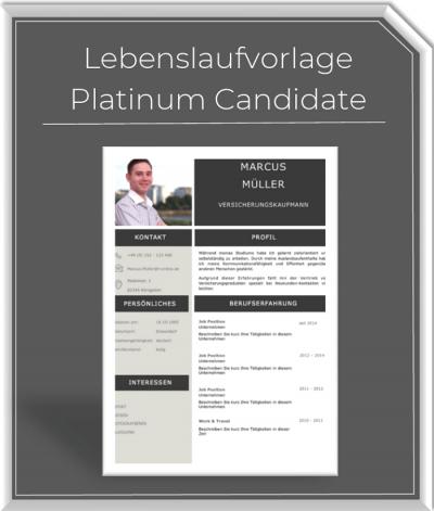 Lebenslaufvorlage - Platinum Candidate