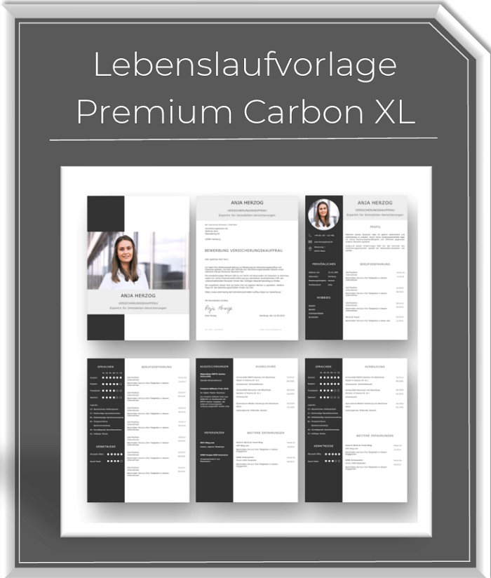 Lebenslaufvorlage - XL Bundle Carbon