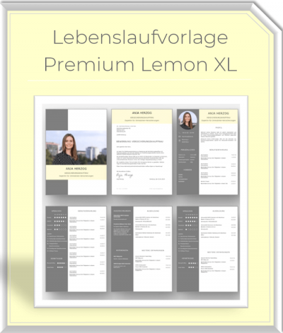 Lebenslaufvorlage - XL Bundle Lemon