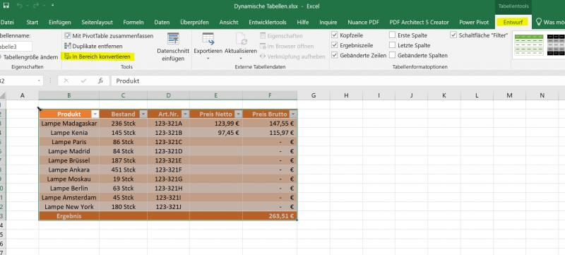 Dynamische Tabelle in Bereich konvertieren