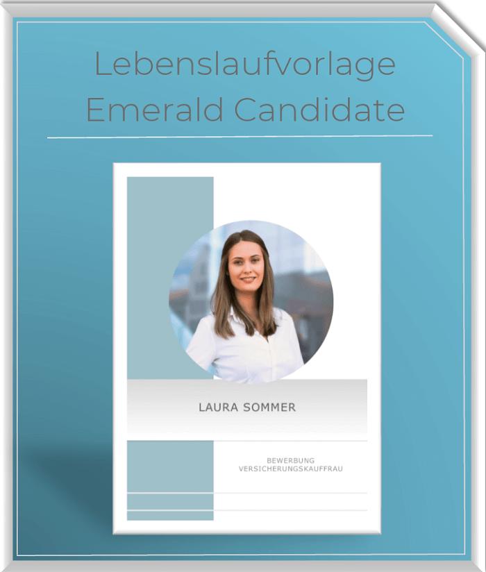 Lebenslaufvorlage - Emerald Candidate