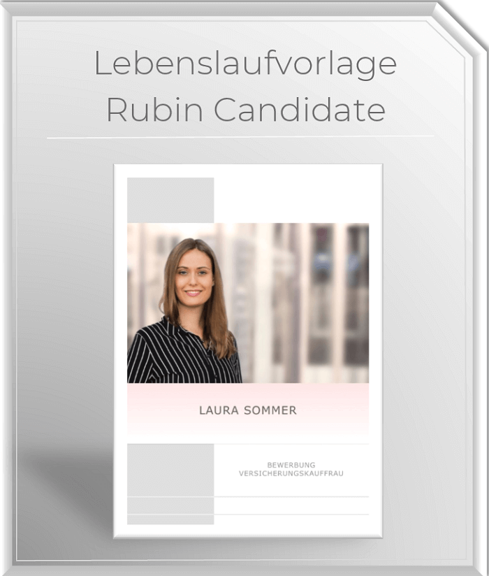 Design Lebenslaufvorlage Rubin Candidate