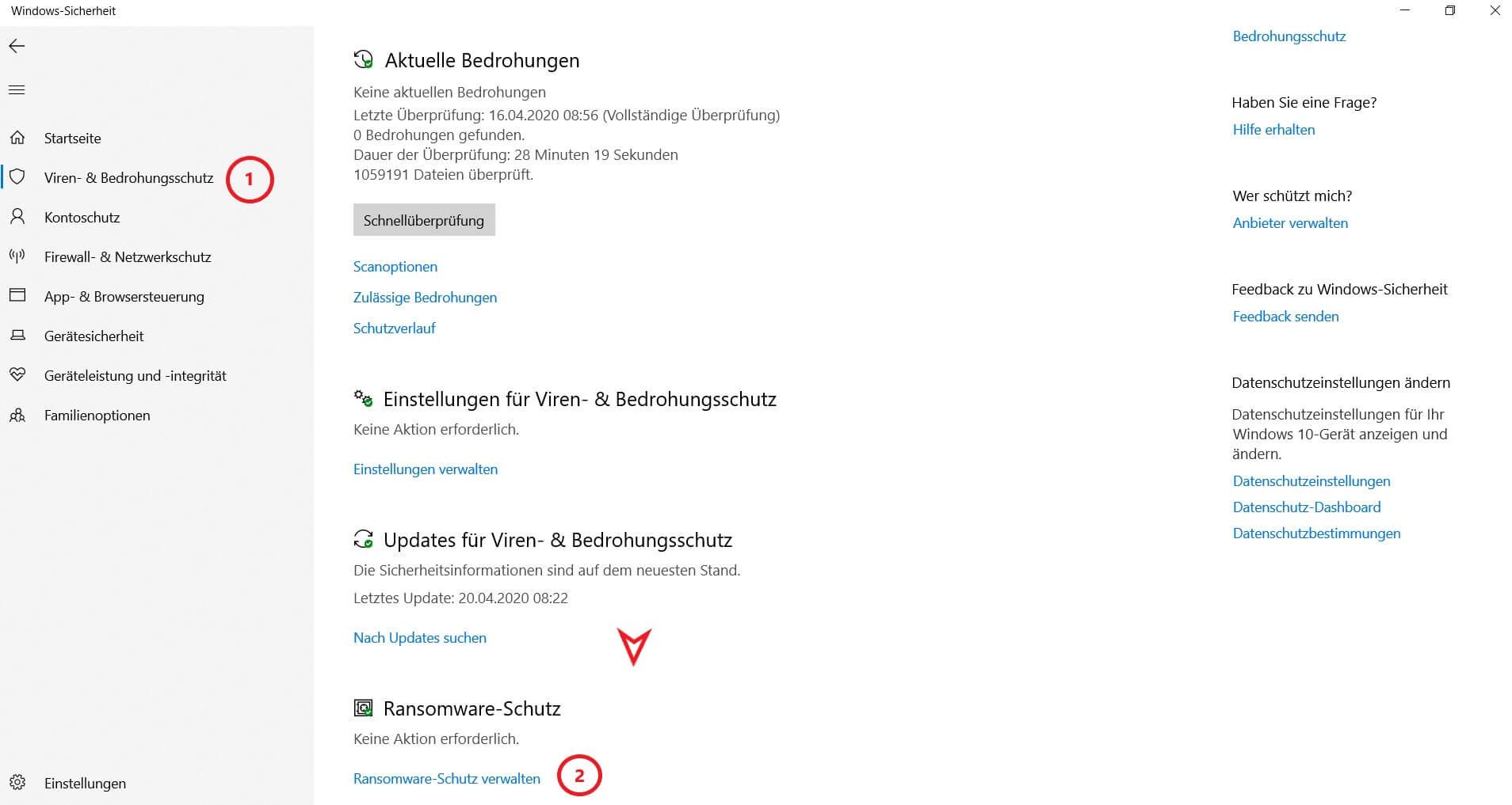 Windows 10 Ransomwareschutz aktivieren