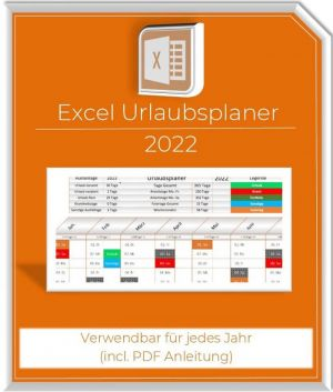 Excel Urlaubsplaner2022 Produktbild