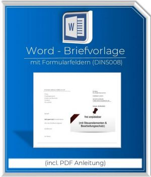 Produktbild Briefvorlage DIN5008-2022