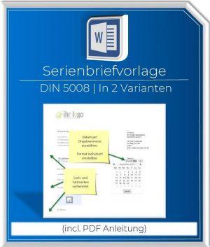 Produktbild Serienbriefvorlage DIN5008