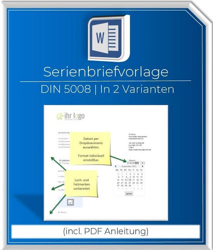 Serienbriefvorlage DIN5008
