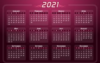 Dynamischen Jahreskalender 2021 mit Excel erstellen