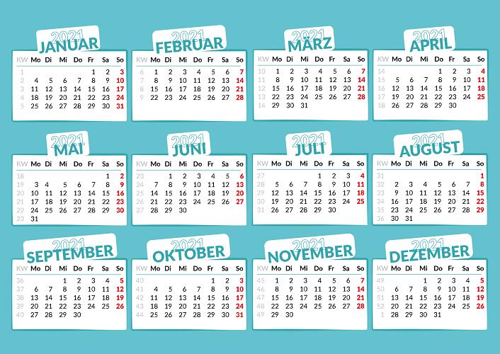 Excel Urlaubsplaner 2021 mit Feiertagen und Wochenenden erstellen