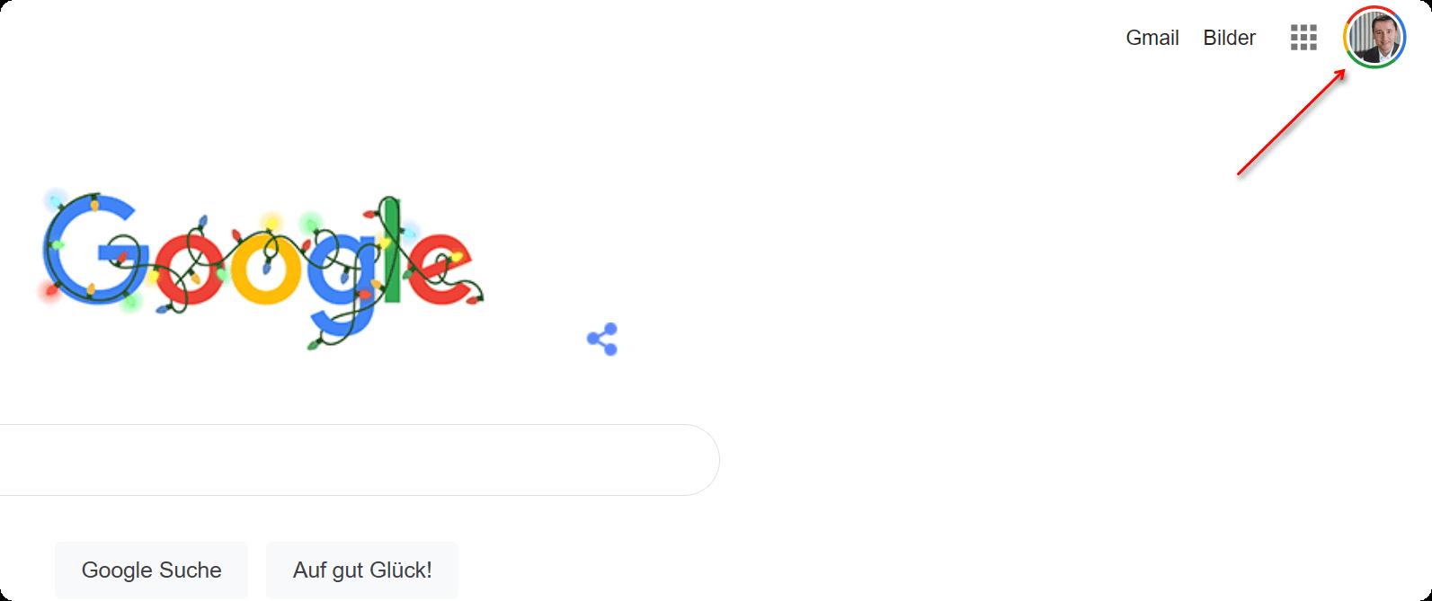 Bin ich bei Google eingeloggt