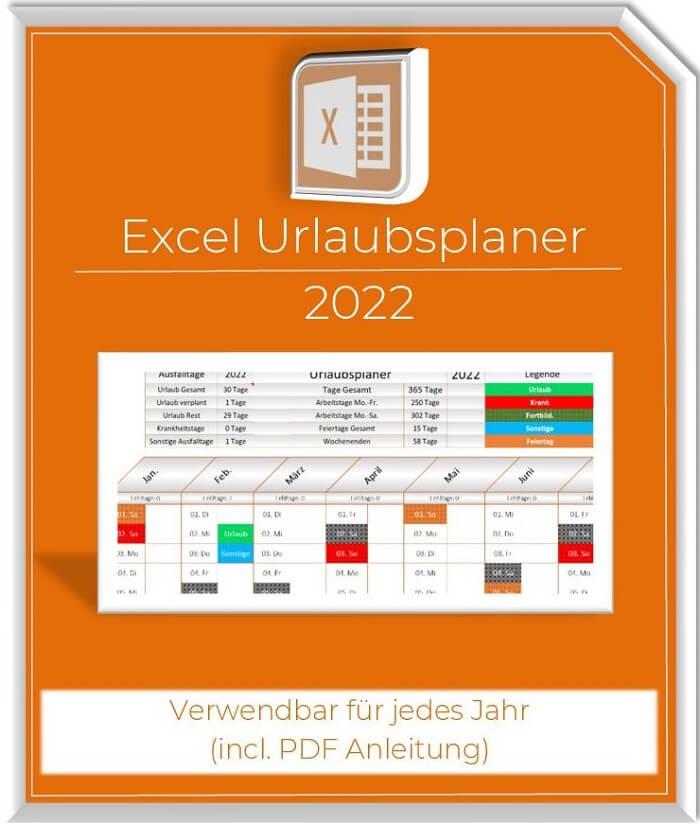 Excel Urlaubsplaner 2022